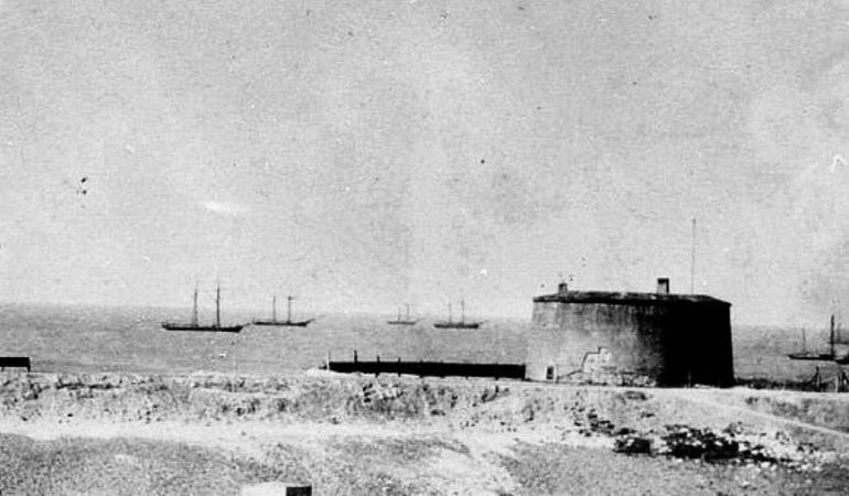 Earliest known photograph of the Tower, taken around 1840
