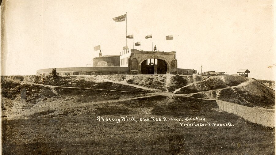 Martello Tower as Skaying Rink and Cafe