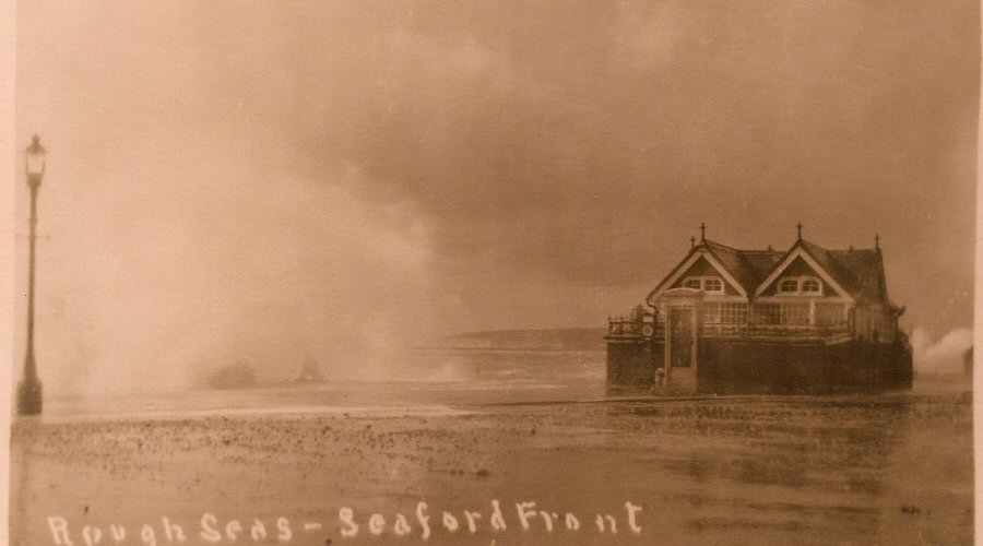 Rough Seas at Seafront Shelter 1935
