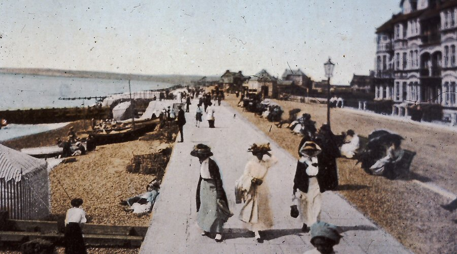 The Esplanade circa 1910 hand coloured print